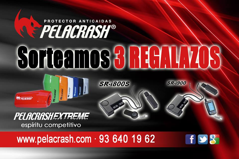 Pelacrash in the Salon motorbike Barcelona